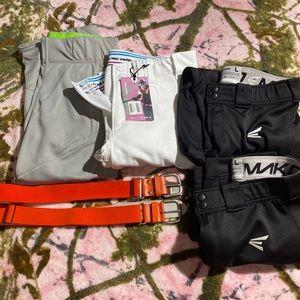 Softball pants and belt bundle